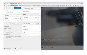 WordPress Customizer - Menus