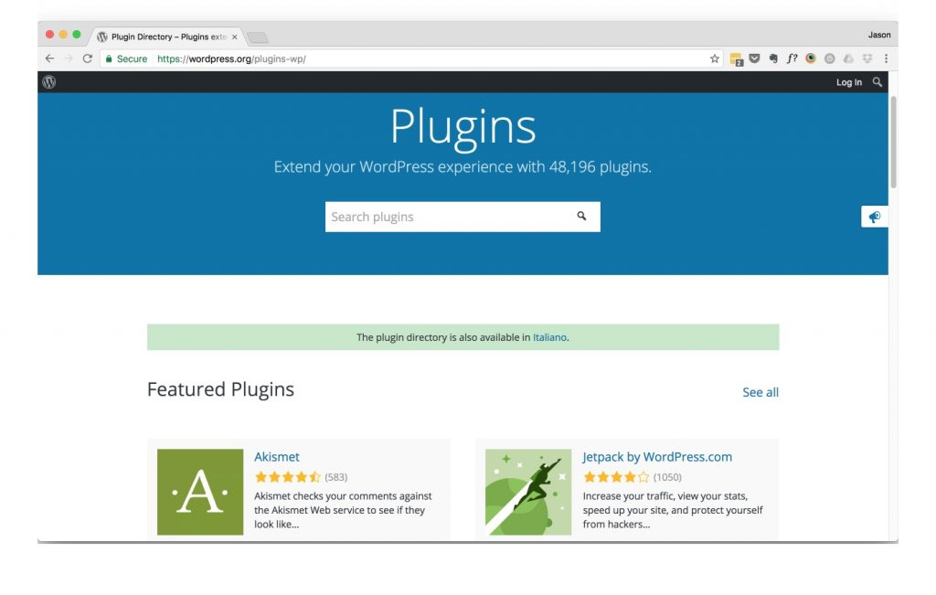 WordPress Plugin Repository
