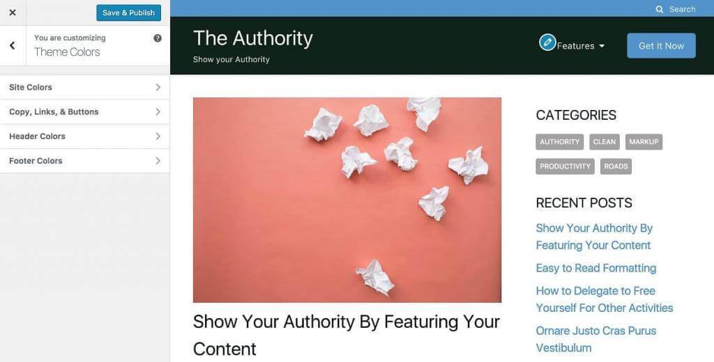 The Authority Customizer
