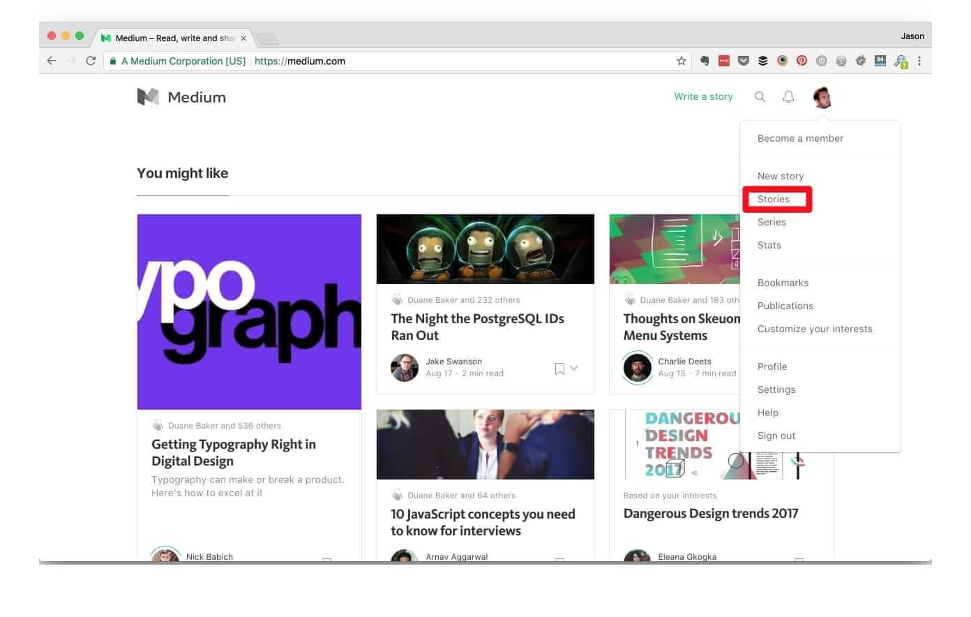 Import WordPress posts to Medium - Profile